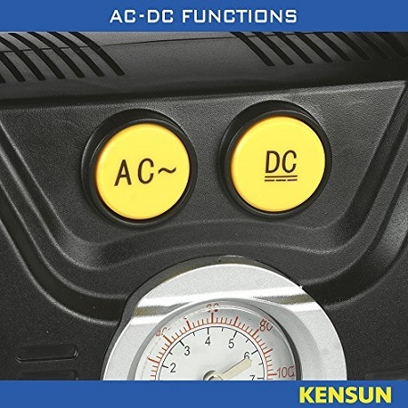 Kensun AC/DC Tire Inflator Functions