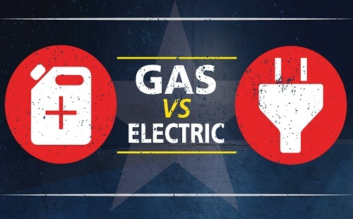 Illustration Of Gas Vs Electric Air Compressor