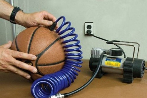 Using Tire Inflator To Pump Ball